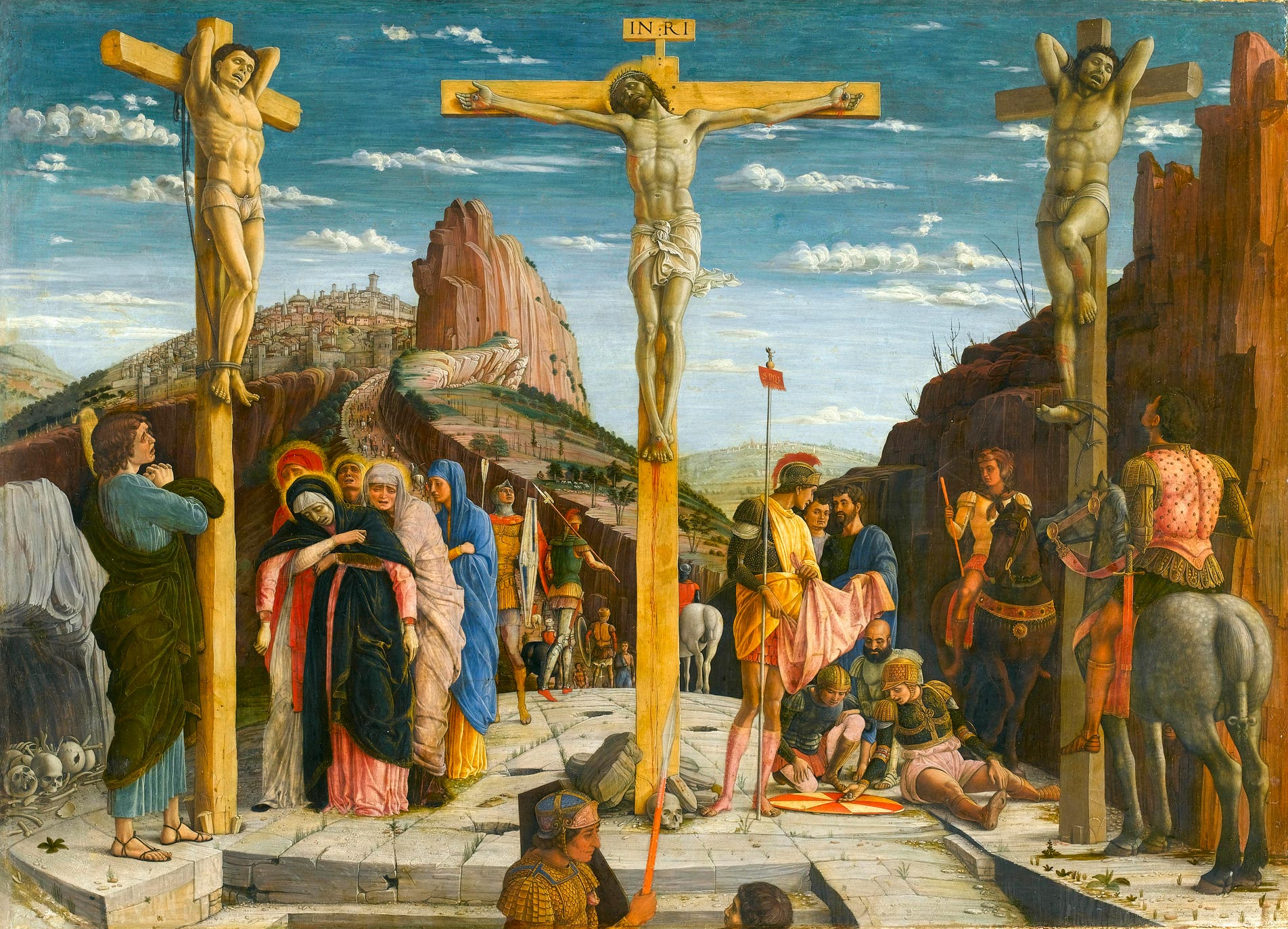 Crucifixion (Andrea Mantegna, ca. 1460, tempera on panel)