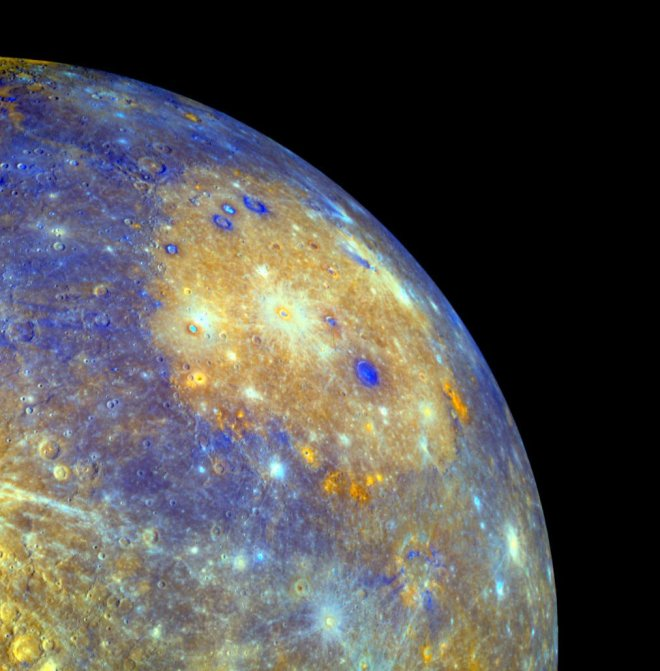 A portrait of Mercury from MESSENGER