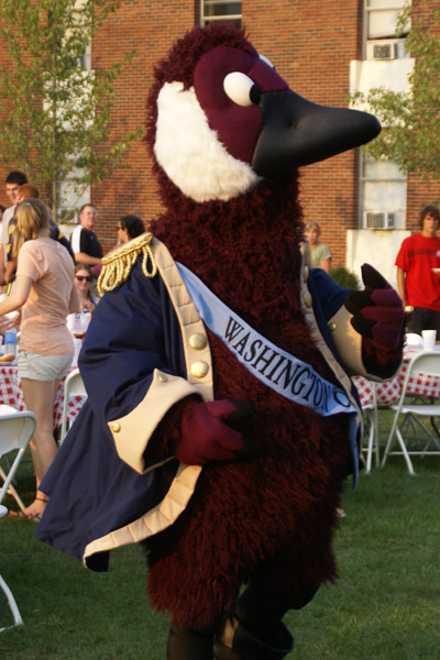 "Washington College's own ""Gus the Goose"""