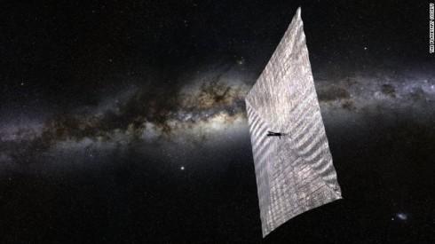 An artist's rendition of a solar sail spacecraft!