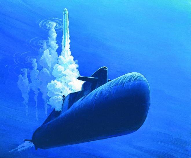 A Delta-class Submarine Firing a SS-N-18 (of the sort that failed)