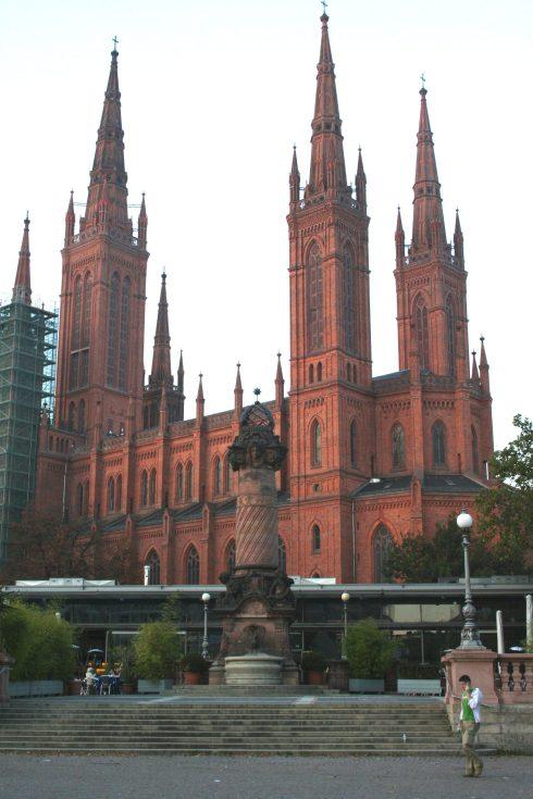 Markt Kirche in Wiesbaden,  Germany