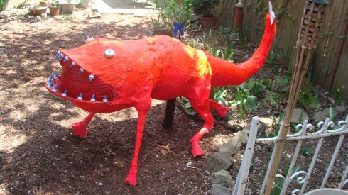 Blossom Monster (Wayne Ferrebee, 2015, paper mache and mixed media)