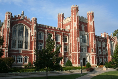 Evans Halls, University of Oklahoma (1912), an example of Collegiate Gothic