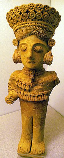 """""""Dama de Ibiza"""" widely considered to be Tanit (ca. 3rd century BC from Ibiza)"""
