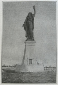 Although before Lady Liberty he designed a colossal statue for the entrance to the Suez Canal...