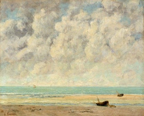 The Calm Sea (Gustave Courbet, 1869, oil on canvas)