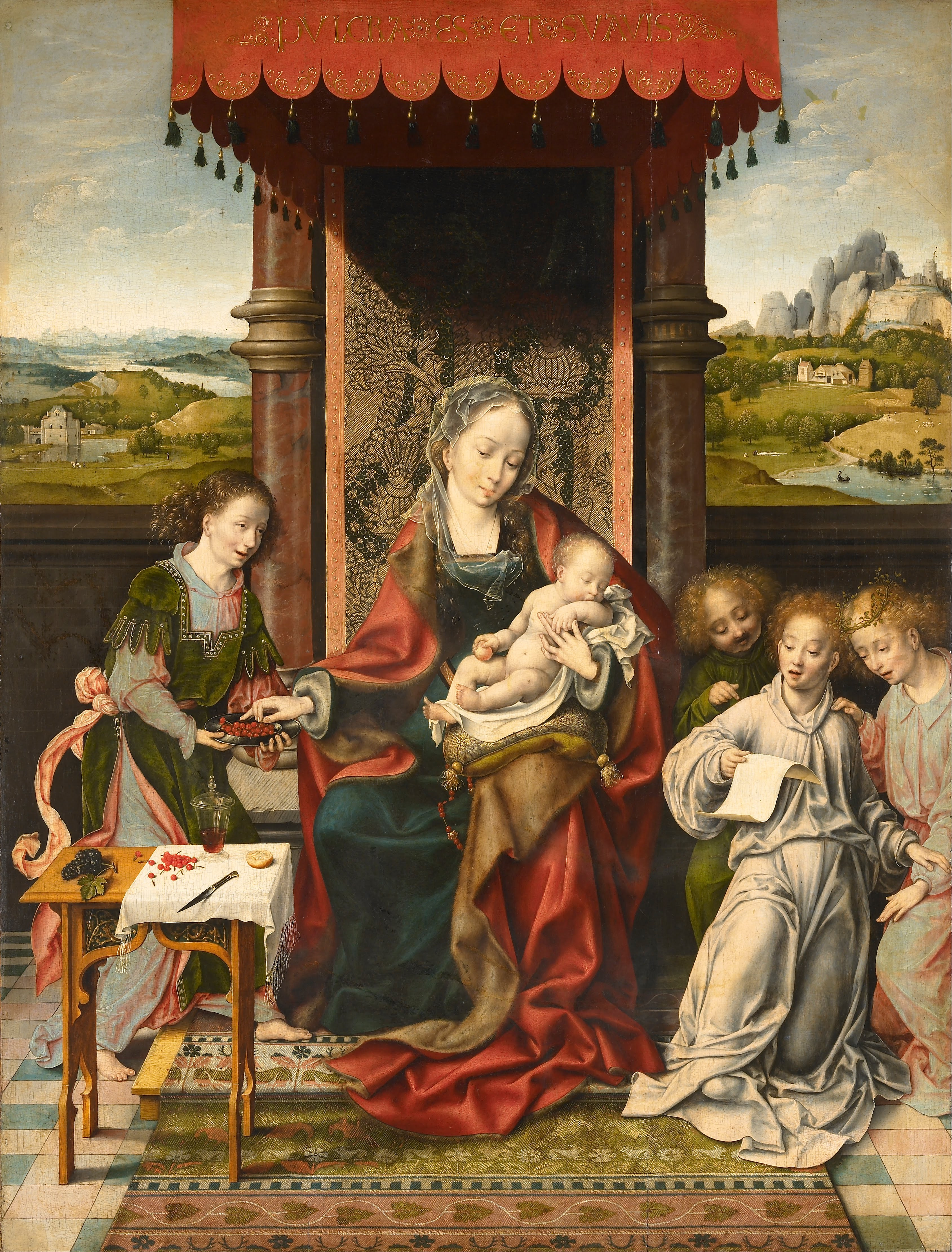 Joos_van_Cleve_-_Virgin_and_Child_with_Angels_-_Google_Art_Project