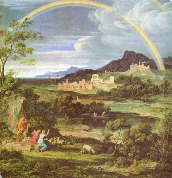 Landscape with Rainbow (Joseph Anton Koch, 1824, oil on canvas)