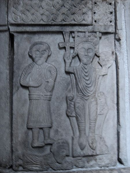 Carving from a baptismal font