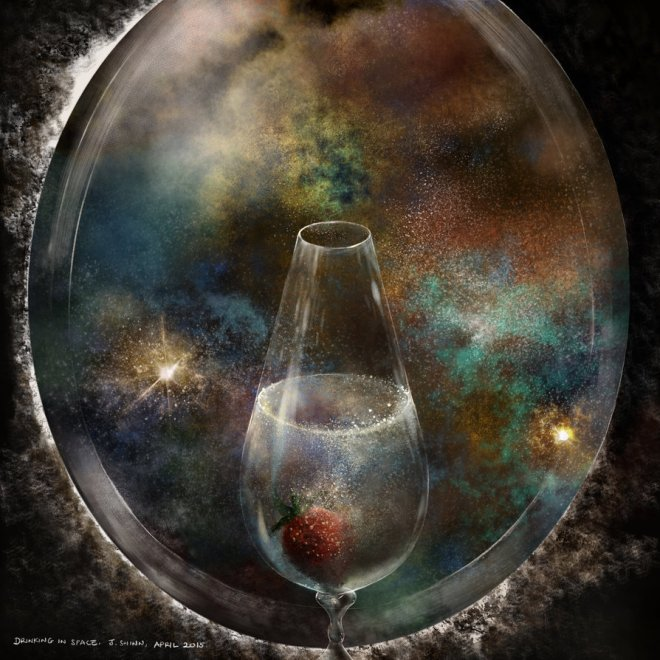 """""""Champagne in Space"""" by Jshinncreative on DeviantArt"""