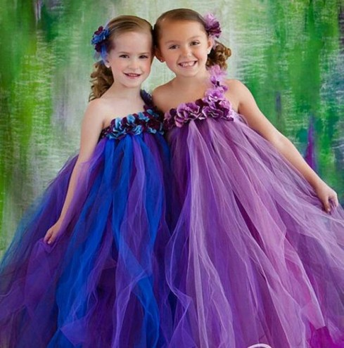Free-Shipping-Wholesale-Colorful-Girl-TUTU-Little-Girl-Pageant-Flower-Girl-Dresses-Party-Birthday-Kids-Children