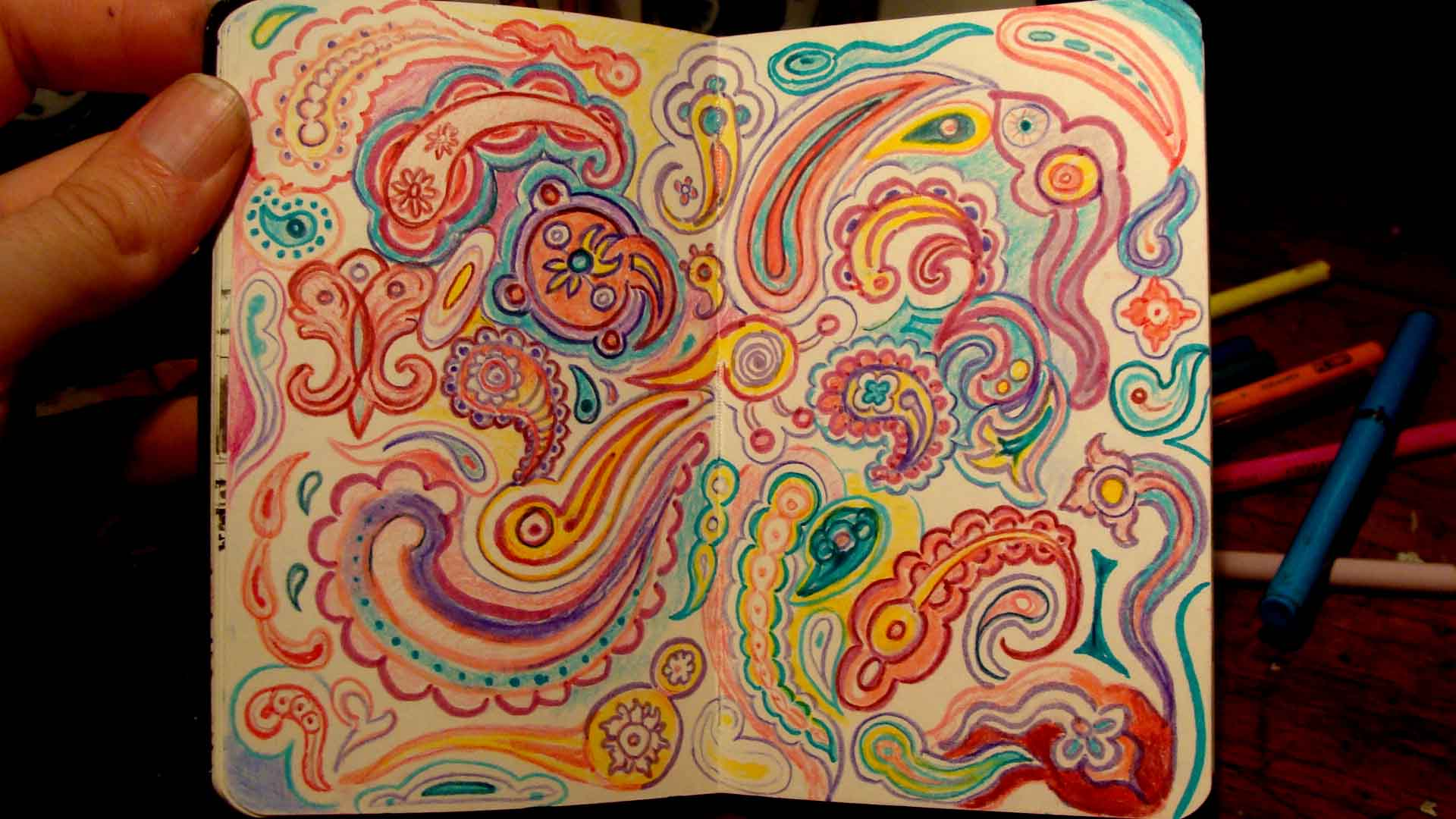 Paisley (Wayne Ferrebee, 2015, color pencil and ink)