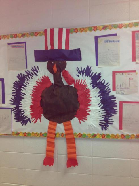 Patriotic-Turkey-Bulletin-Board-Idea