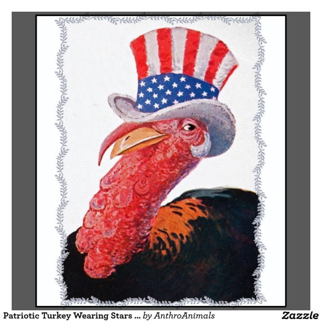 Patriotic Turkey Wearing Stars (by AnthroAnimals from Zazzle)