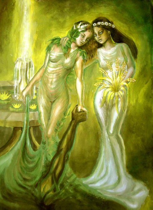 Persephone and Minthe
