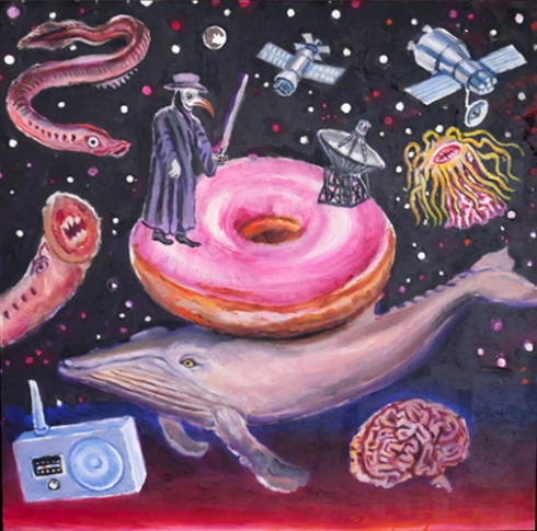 Mister SETI (Wayne Ferrebee, 2012, oil on panel)