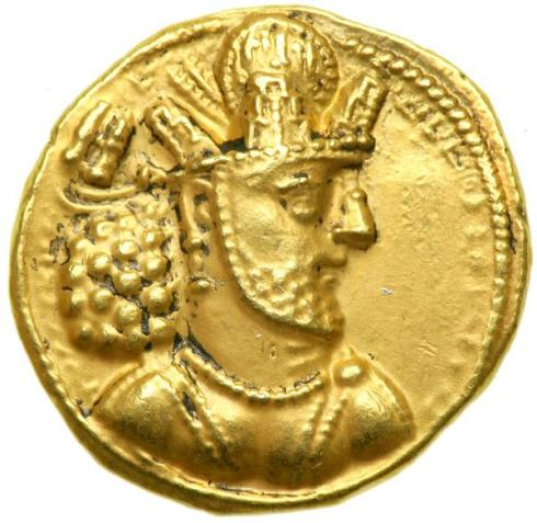 Gold Coin with Shapur II