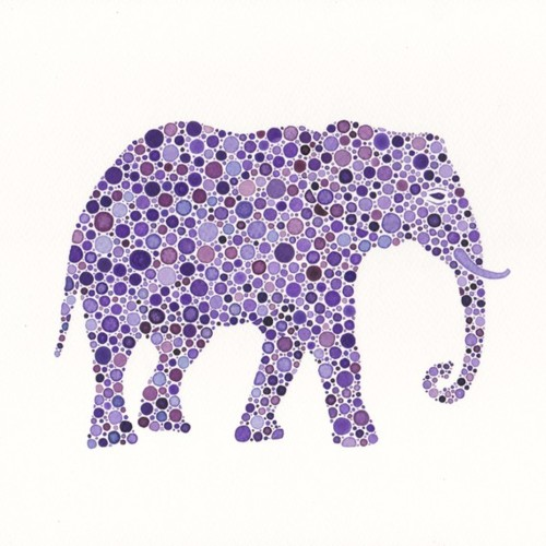 Mosaic elephant from contentinacottage