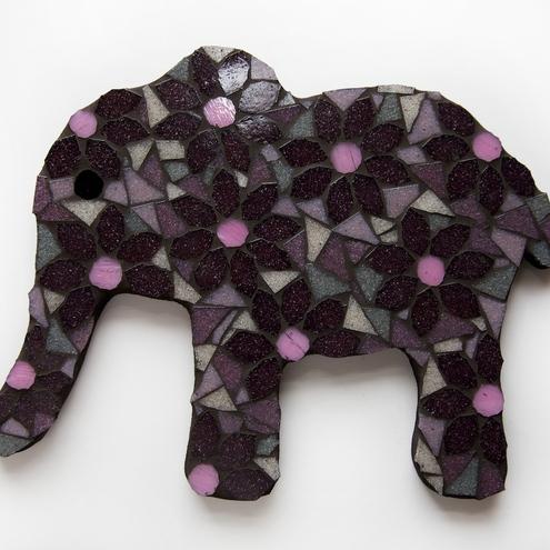 Mosaic Flower Elephant by Diana Jane Designs.
