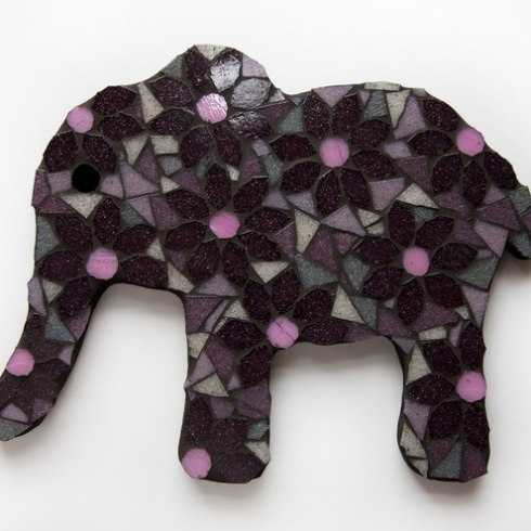 Mosaic Flower Elephant by Diana Jane Designs.
