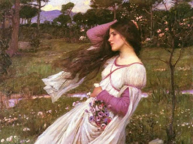 Windflowers (John William Waterhouse, 1902, oil on canvas)