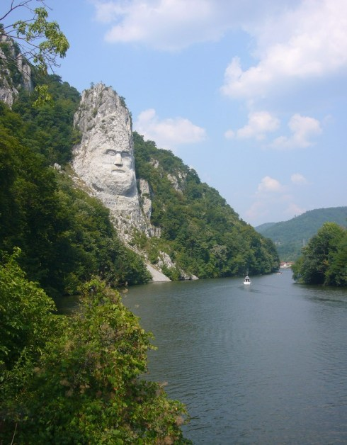Statue of Decebalus (completed 2004, carved stone)