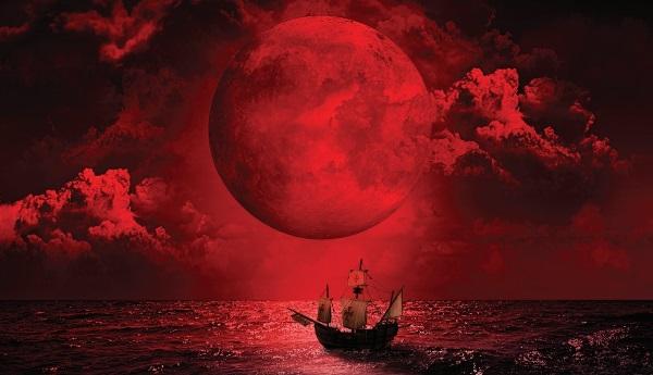 Blood Moon of 1493 (artist's interpretation)