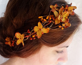 "Fall Wedding Crown by ""thehoneycomb"" on Etsy"