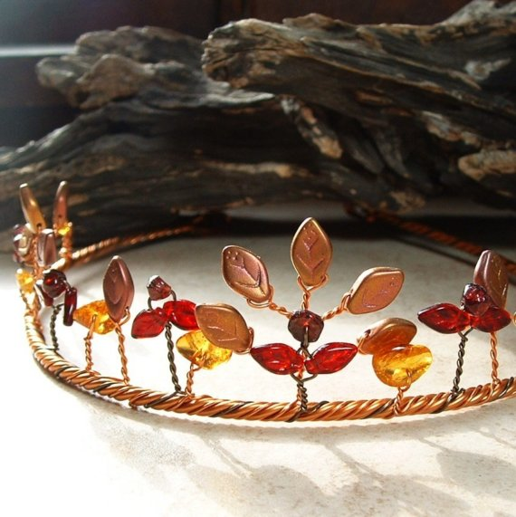 Amber Autumn Fairy Circlet Tiara Crown (by Thyme2dream on Etsy)