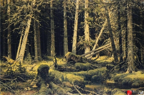 Wind-Fallen Trees (Ivan I. Shiskin, 1888, oil on canvas)