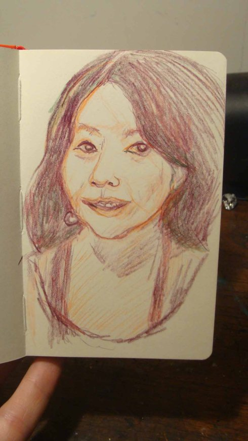 Sachiko (Wayne Ferrebee, 2015, color pencil)