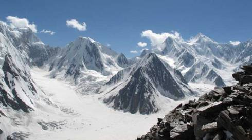The Tian Shan Mountains, goodness help us...