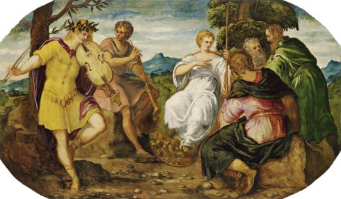 The Contest between Apollo and Marsyas (Tintoretto, About 1545 Oil on canvas)