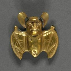 Gold Bat Ornament (Moche)