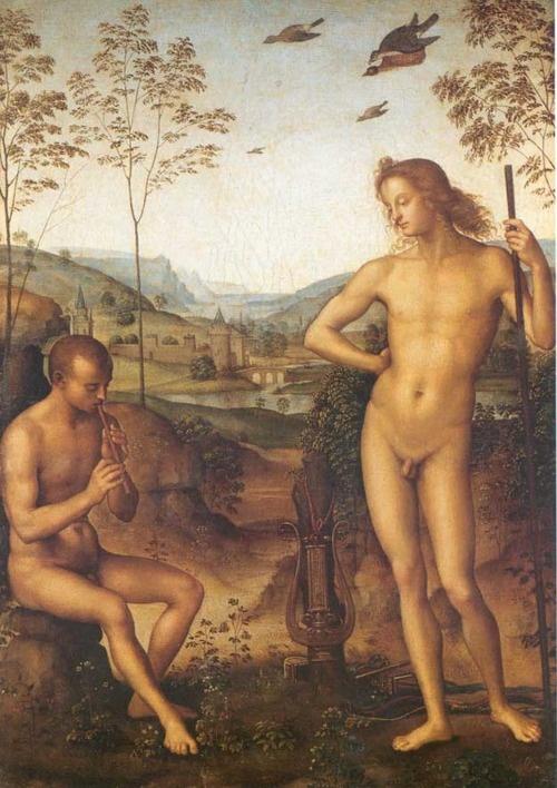 Apollo and Marsyas (Pietro Perugino, late 15th century)