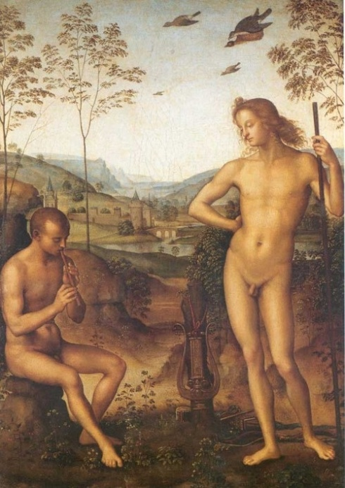 Apollo and Marsyas (Pietro Perugino, late 15th century)