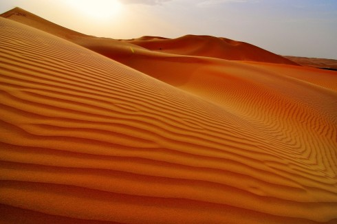 A sand dune in the Rub al Kali Desert