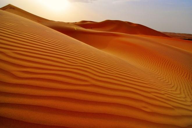 A sand dune in the Rub al Kali Desert