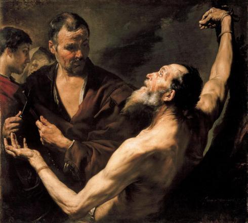 The Martyrdom of Saint Bartholomew (Jusepe de Ribera,  1634, oil on canvas)