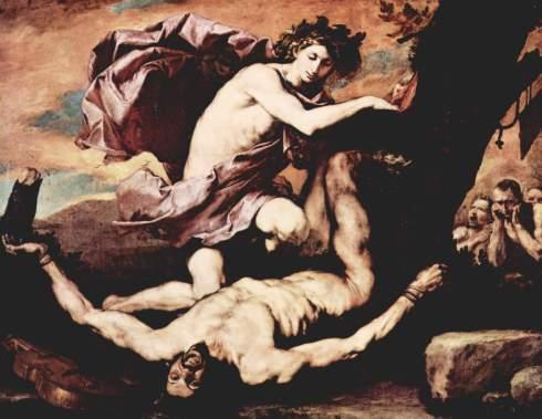 Apollo and Marsyas (Jusepe de Ribera, 1637, oil on canvas)