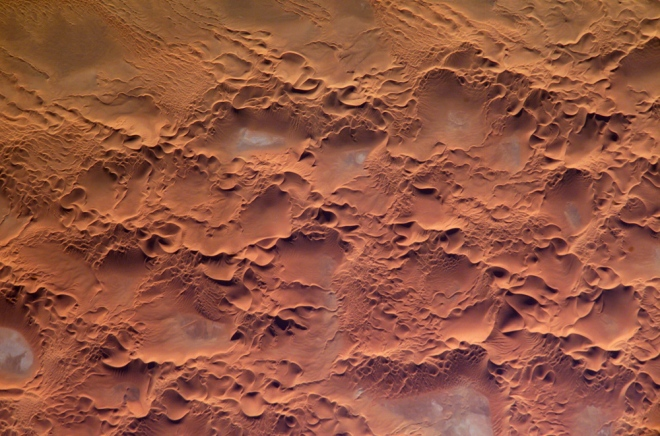 Issaouane Erg, Algeria (photo from the International Space Station)