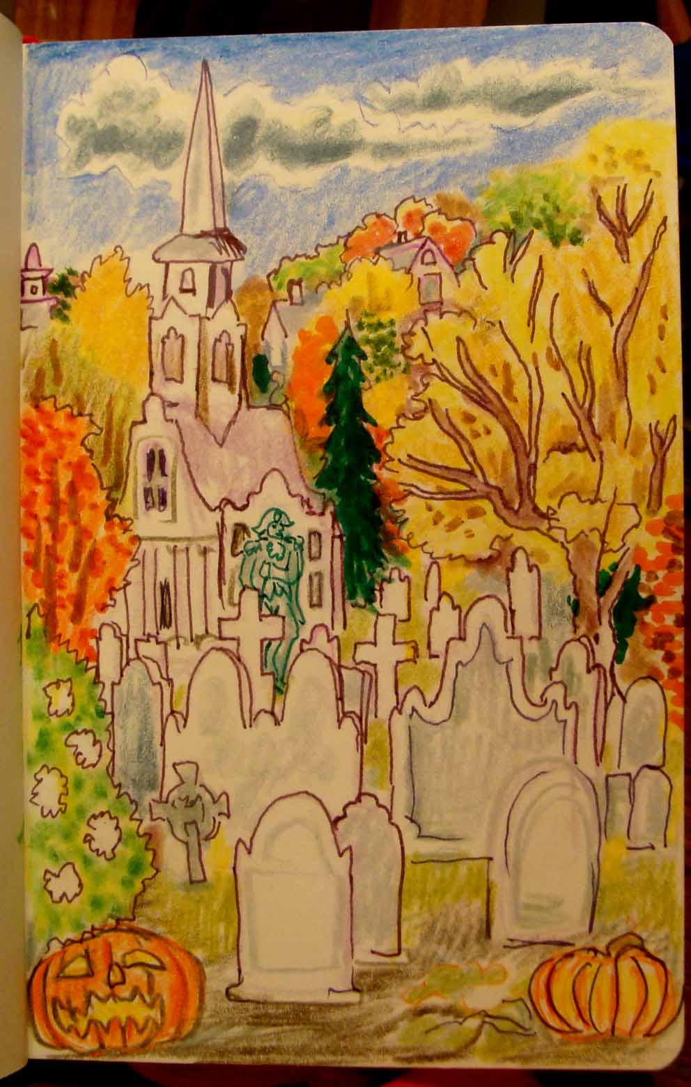 Kingston (Wayne Ferrebee, 2015, color pencil on paper)