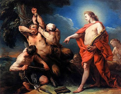 Marsyas Flayed by the Order of Apollo (Charles André van Loo, ca. 1734-1735, oil on canvas)