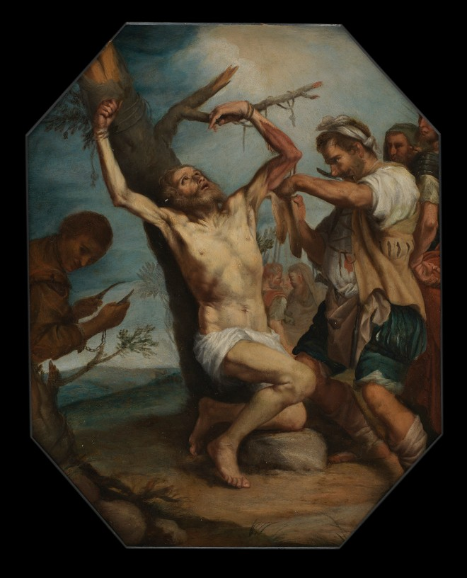 Martyrdom of Saint Bartholomew (unknown artist, 17th century, oil on canvas)
