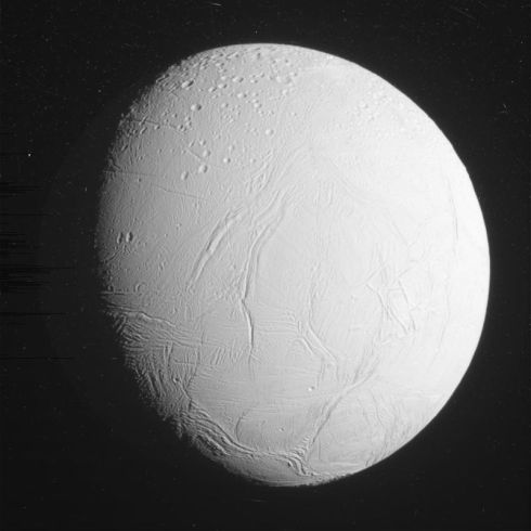 The North Pole of Enceladus during the October 30th, 2015 Cassini Flyby (NASA/ESA/ASI)