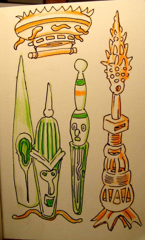 Doodle (Wayne Ferrebee, 2015 colored pencil and ink)