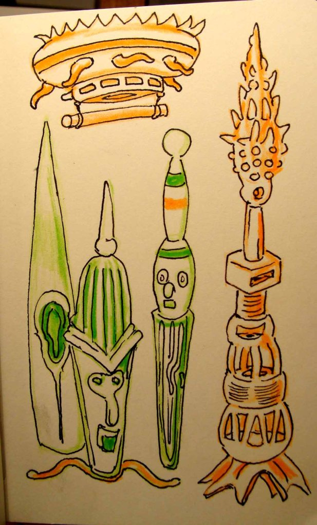 Doodle (Wayne Ferrebee, 2015 colored pencil and ink)