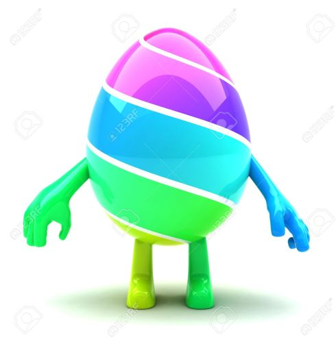 12285098-Beautiful-colored-Easter-egg-mascot-with-hands-and-feet-Stock-Photo