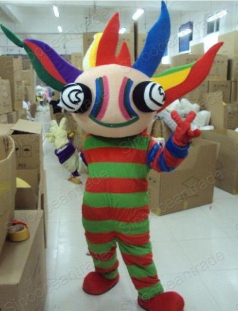 Colorful Boy Man Mascot Costume Fancy Dress Outfit EPE